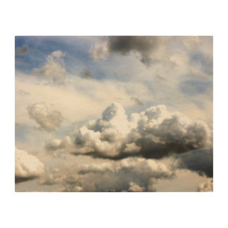 Landkreis-angemessene Wolken Holzleinwand
