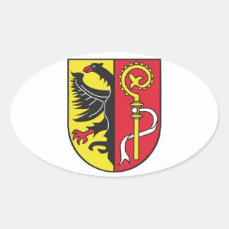 Landkreis Biberach Wappen Ovaler Aufkleber
