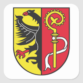 Landkreis Biberach Wappen Quadratischer Aufkleber