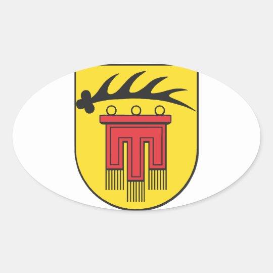 Landkreis Böblingen Wappen Ovaler Aufkleber