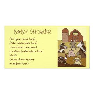Landleben 10 Babyparty Foto Grußkarte