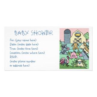 Landleben 17 Babyparty Bildkarten