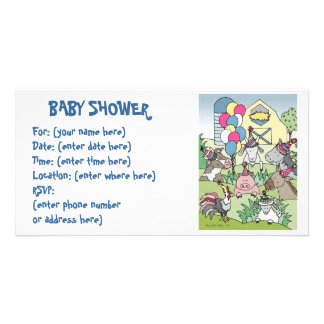 Landleben 20 Babyparty Bilderkarte