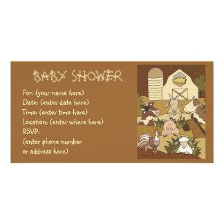 Landleben 21 Babyparty Bildkarte