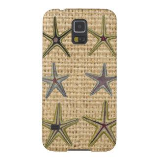 Landleinwandstrand-Chic Starfish des Seashell Galaxy S5 Hülle
