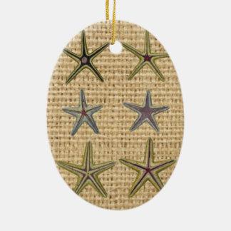 Landleinwandstrand-Chic Starfish des Seashell Keramik Ornament