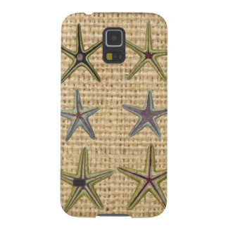 Landleinwandstrand-Chic Starfish des Seashell Samsung S5 Cover