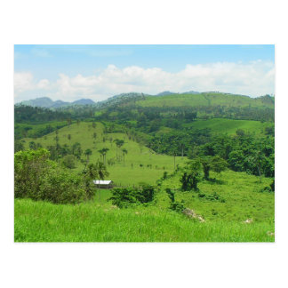 Ländliche Ansicht, Postkarte der Dominikanischen