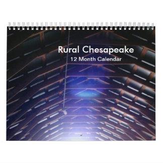 Ländliche Chesapeake-Fotos 12 Monats-Kalender Wandkalender
