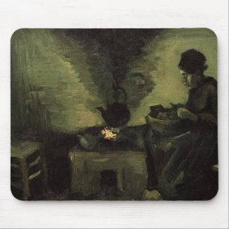 Ländliche Frau durch den Kamin Vincent van Gogh Mauspad