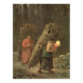 Ländliche Frauen mit Reisig, c.1858 Postkarte