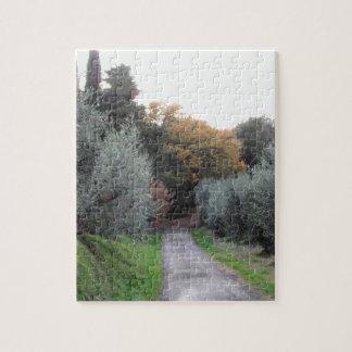 Ländliche Landschaft im Herbst. Toskana, Italien Puzzle