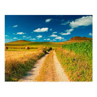 Ländliche Landschaft Postkarte