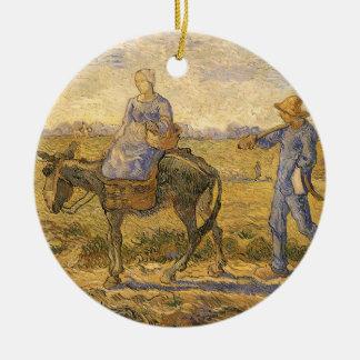 Ländliche Paare, die gehen, durch Vincent van Gogh Keramik Ornament
