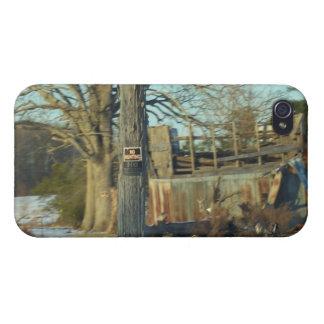 Ländliche Schnee-Szene - Wilson County, North iPhone 4/4S Hüllen