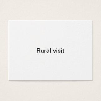 Ländlicher Besuch Visitenkarte