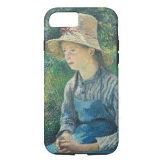 Ländliches Mädchen mit einem Strohhut, 1881 iPhone 8/7 Hülle