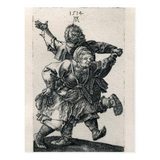 Ländliches Paar-Tanzen durch Albrecht Durer Postkarte