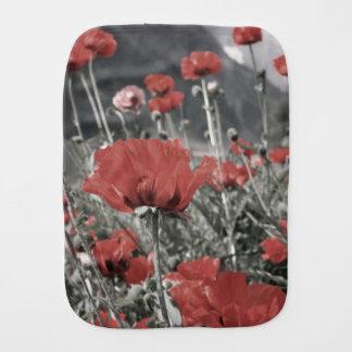 Landnaturlandschaftsrote Mohnblumen-Blume Spucktuch
