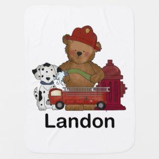Landons wenige Feuer-Bärn-personalisierte Kinderwagendecke