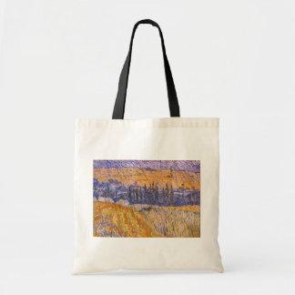 Landschaft bei Auvers im Regen, Vincent van Gogh Tragetasche