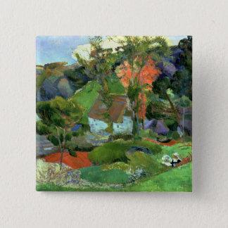 Landschaft bei Pont Aven, 1888 Quadratischer Button 5,1 Cm