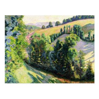 Landschaft bei Pontgibaud, c.1895 (Öl auf Postkarte