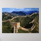 Landschaft der großen Wand, Jinshanling, China Poster