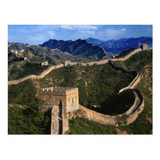 Landschaft der großen Wand, Jinshanling, China Postkarte