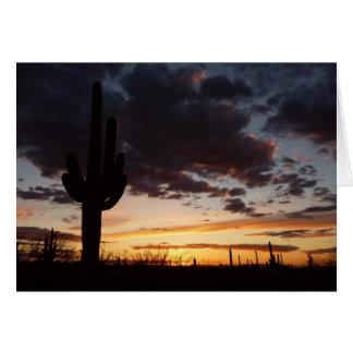 Landschaft des Saguaro-Sonnenuntergang-III Arizona Karte
