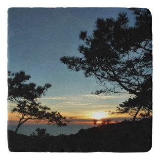 Landschaft des Torrey Kiefern-Sonnenuntergang-III Töpfeuntersetzer
