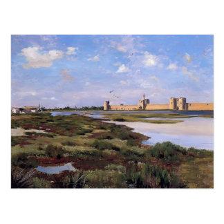 Landschaft Frederic Bazille- von Aigues-Mortes Postkarte