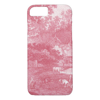 Landschaft French Toile de Jouy Shabby Counry iPhone 8/7 Hülle