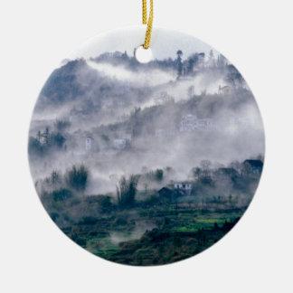 Landschaft im Nebel Keramik Ornament