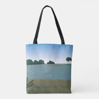 Landschaft in dem Fluss Tasche