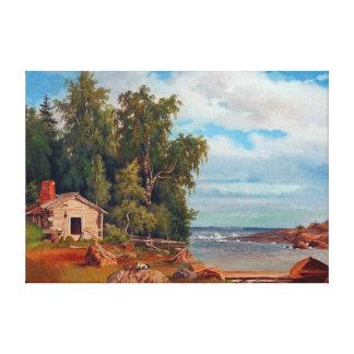 Landschaft Magnus von Wright Beach von Lövö Leinwanddruck