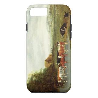 Landschaft mit einem Hirt und Vieh (Öl auf canva iPhone 8/7 Hülle