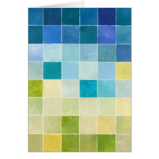 Landschaft mit mehrfarbigen Pixilated Quadraten Karte