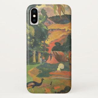 Landschaft mit Pfaus durch Paul Gauguin iPhone X Hülle