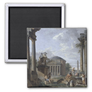 Landschaft mit römischen Ruinen Magnets