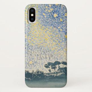 Landschaft mit Sternen iPhone X Hülle