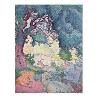 Landschaft mit Ziegen, 1895 Postkarte