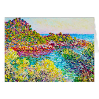 Landschaft nahe Monte Carlo, Claude Monet 1883 Karte