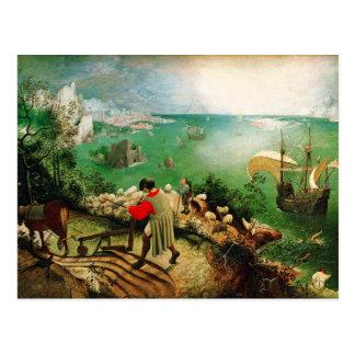Landschaft Pieter Bruegel mit dem Fall von Ikarus Postkarte
