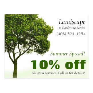 Landschaft, Rasen oder im Garten Postkarte