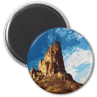 Landschaft Runder Magnet 5,1 Cm