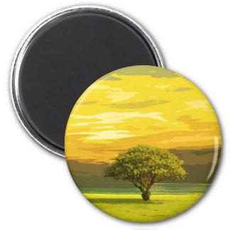 Landschaft Runder Magnet 5,7 Cm
