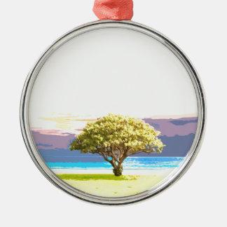 Landschaft Silbernes Ornament