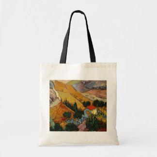 Landschaft Vincent van Goghs   mit Haus u. Tragetasche