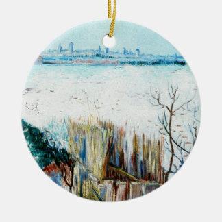 Landschaft w Arles, Vintage feine Kunst Van Gogh Keramik Ornament